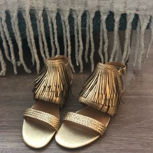 Banana Republic Gold Gladiator Sandals